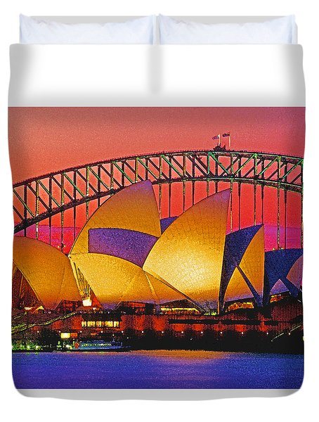 Sydney Architecture Duvet Cover by Dennis Cox WorldViews