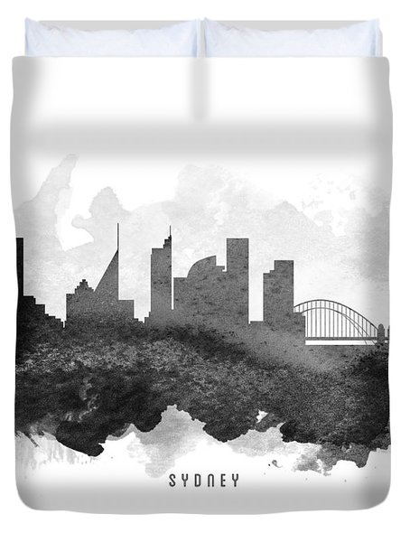 Sydney Cityscape 11 Duvet Cover by Aged Pixel