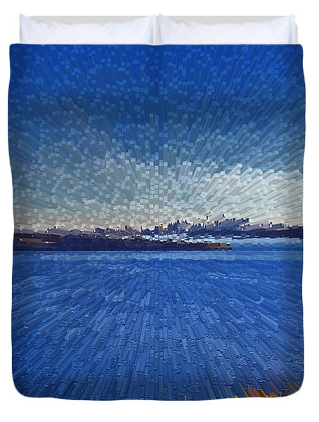 Sydney From North Head Duvet Cover