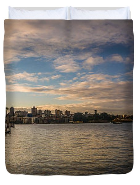 Duvet Cover featuring the photograph Sydney Harbor by Andrew Matwijec