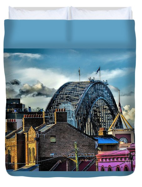 Sydney Harbor Bridge Duvet Cover by Diana Mary Sharpton
