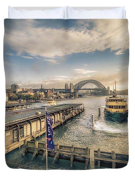 Sydney Harbor I Duvet Cover