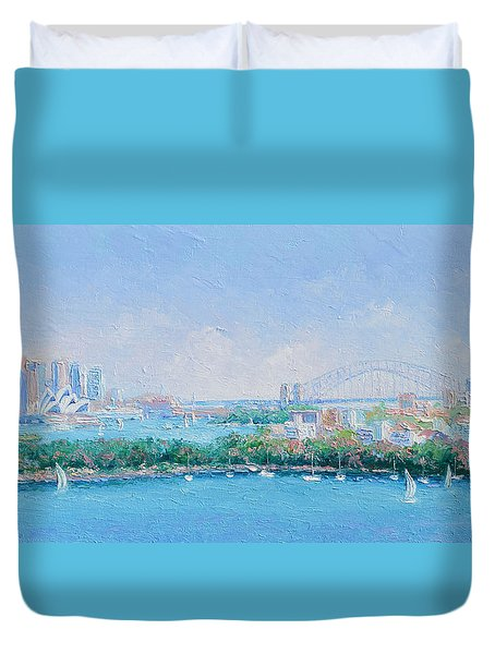 Sydney Harbour Bridge - Sydney Opera House - Sydney Harbour Duvet Cover