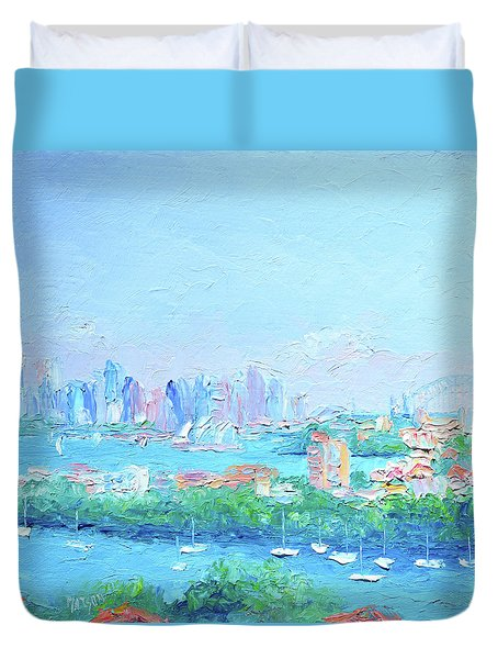 Sydney Harbour Impression Duvet Cover