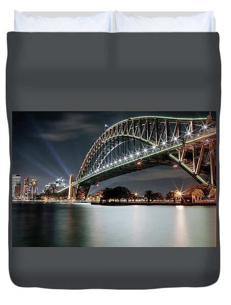 Sydney Harbour Lights Duvet Cover
