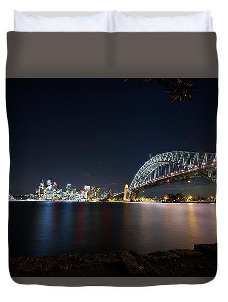 Sydney Harbour Silk Duvet Cover