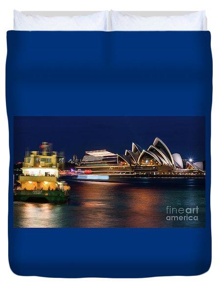 Sydney Night Life Duvet Cover