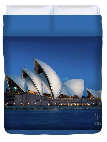 Sydney Opera House After Dark Duvet Cover