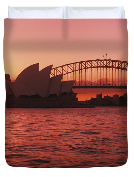 Sydney Opera House Duvet Cover by Bill Bachmann - Printscapes