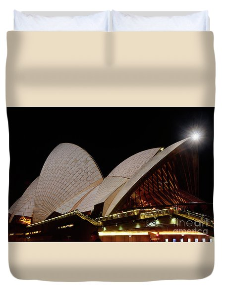 Duvet Cover featuring the photograph Sydney Opera House Close View 2 By Kaye Menner by Kaye Menner