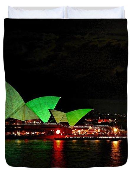 Sydney Opera House Vivid Festival Australia Duvet Cover