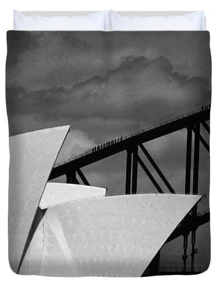 Sydney Opera House With Harbour Bridge Duvet Cover