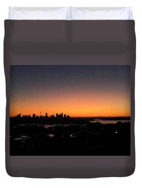 Sydney Skyline Duvet Cover by Scarlett Bieri