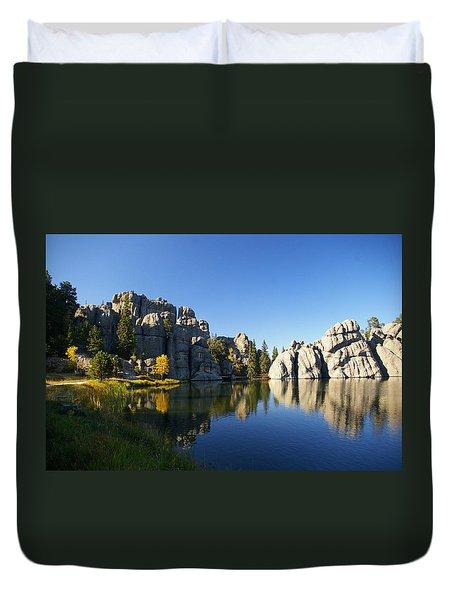 Sylvan Lake, Custer South Dakota Duvet Cover by Karen Cade