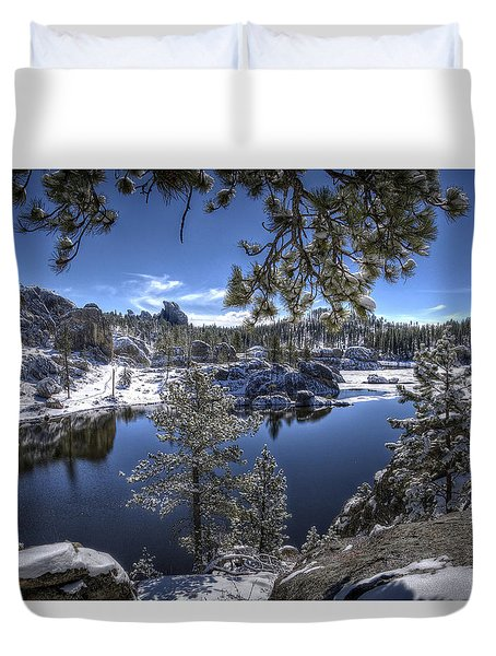 Sylvan Lake Duvet Cover