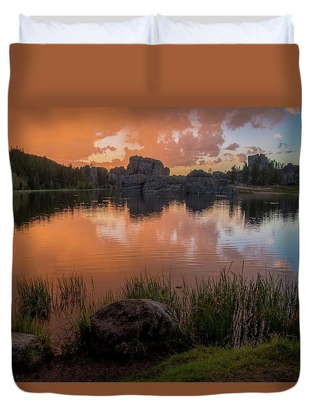 Duvet Cover featuring the photograph Sylvan Lake by Gary Lengyel