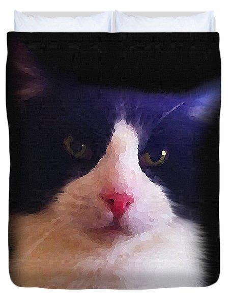 Sylvester Tuxedo Cat Duvet Cover