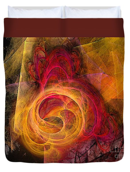 Symbiosis Abstract Art Duvet Cover