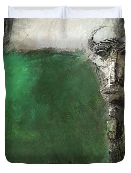 Symbol Mask Painting - 03 Duvet Cover