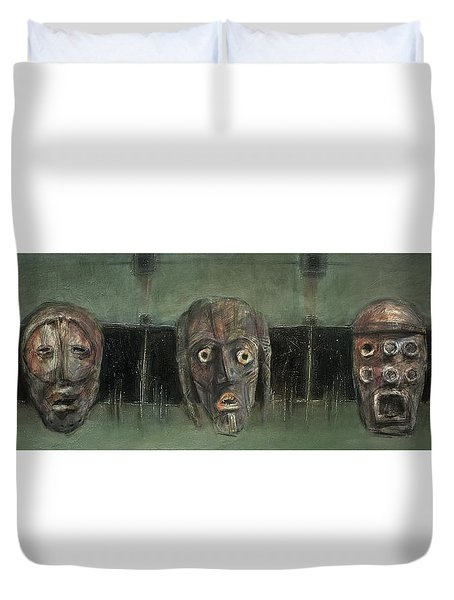 Symbol Mask Painting - 05 Duvet Cover