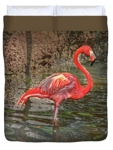 Duvet Cover featuring the photograph Symbol Of Florida by Hanny Heim