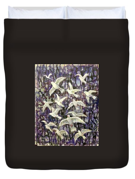 Symbol  Of Peace Duvet Cover by Laila Awad Jamaleldin