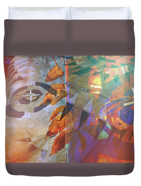 Symbolism No. 5 Duvet Cover by Toni Hopper