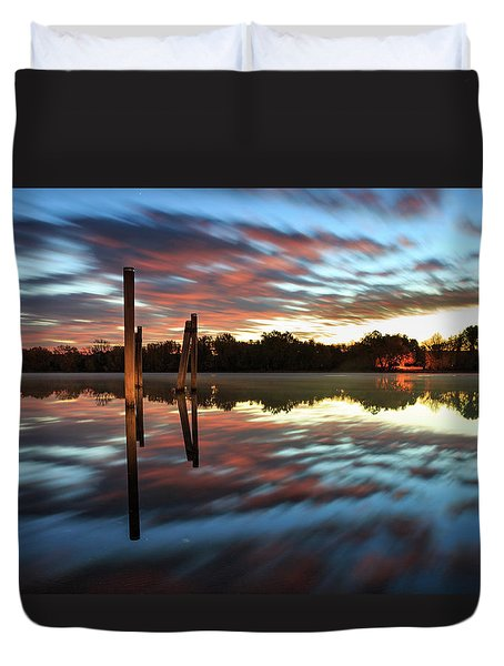 Symetry On The River Duvet Cover
