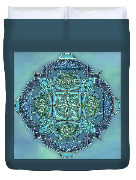 Symmetrical #12 Duvet Cover by Marion Sipe