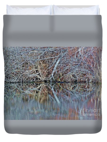 Duvet Cover featuring the photograph Symmetry by Christian Mattison