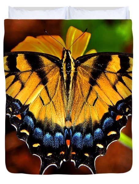 Symmetry Of A Butterfly 004 Duvet Cover by George Bostian
