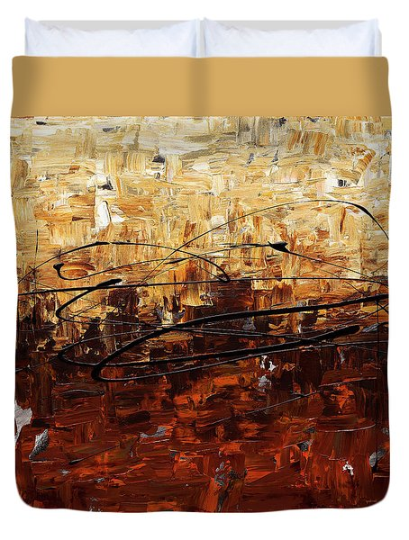 Duvet Cover featuring the painting Symphony by Carmen Guedez