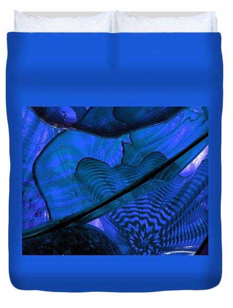 Symphony In Blue Duvet Cover
