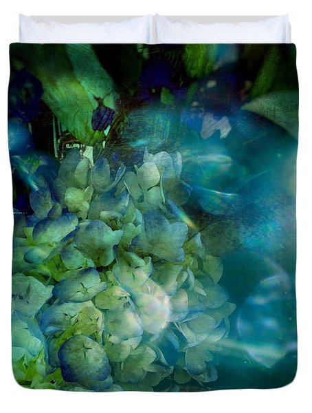 Symphony In Blue Duvet Cover by Colleen Taylor