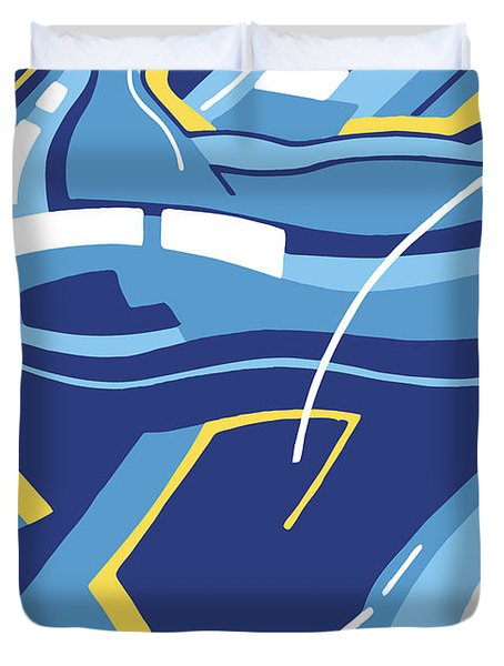 Symphony In Blue - Movement 4 - 3 Duvet Cover