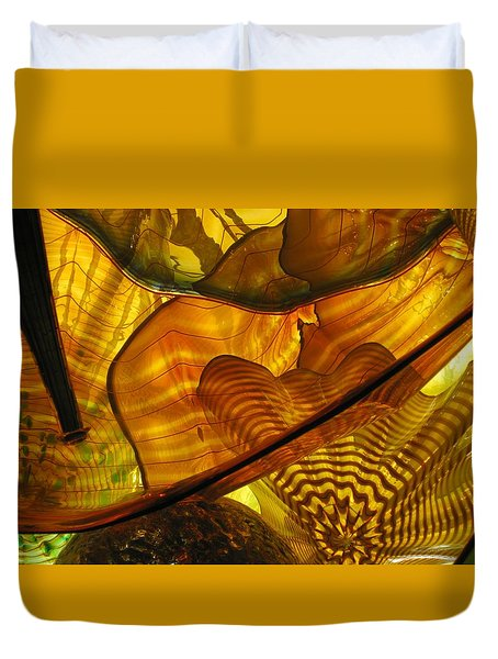 Symphony In Gold  Duvet Cover