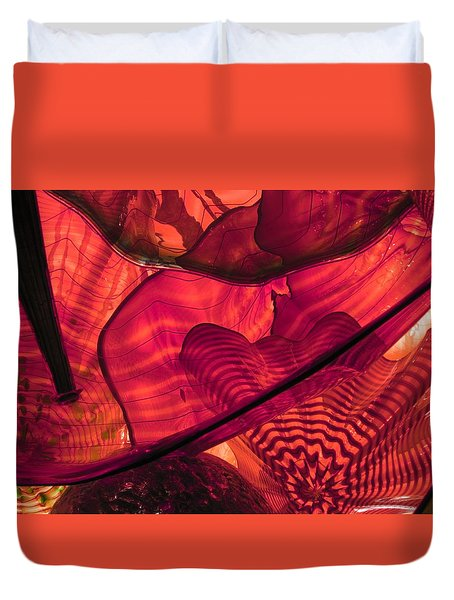 Symphony In Red Duvet Cover
