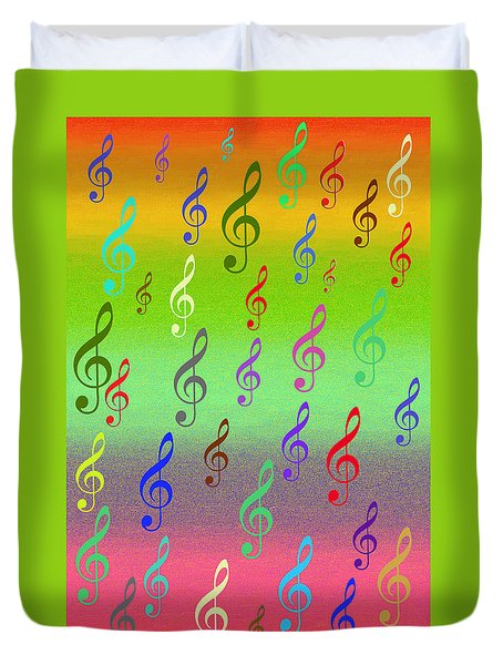 Symphony Of Colors Duvet Cover