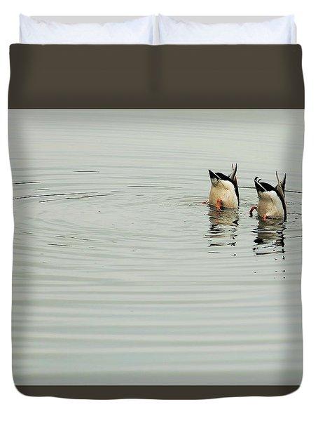 Synchronized Swimmers Duvet Cover