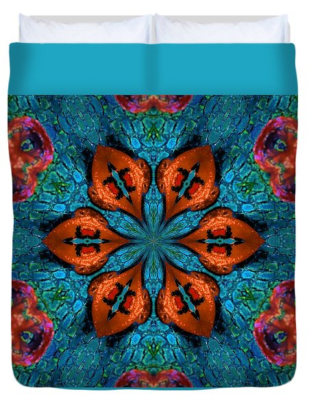 Synchronized Swimmers Duvet Cover by Lori Kingston