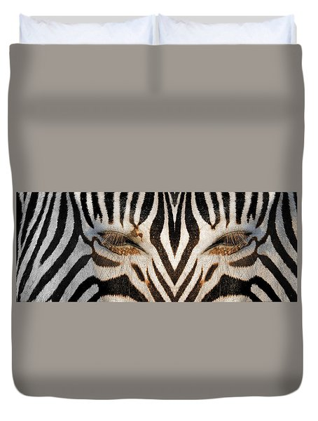 Synthetic Zebra Duvet Cover