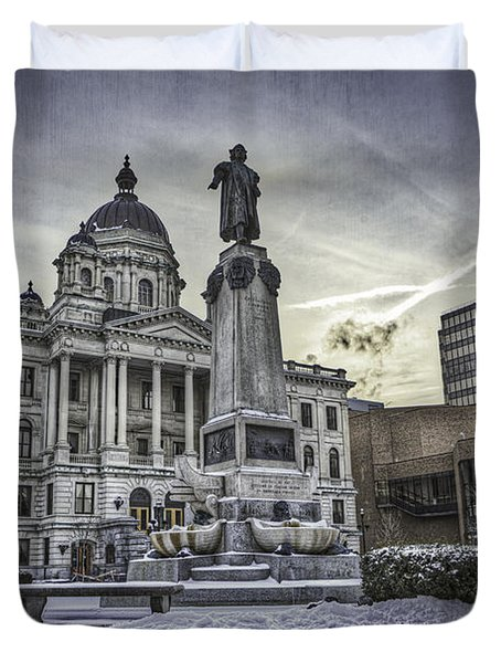 Syracuse Courthouse Duvet Cover