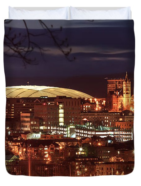 Syracuse Dome At Night Duvet Cover
