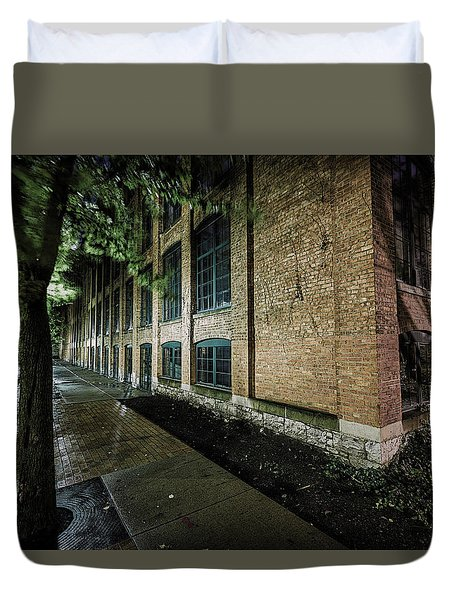 Duvet Cover featuring the photograph Syracuse Sidewalks by Everet Regal