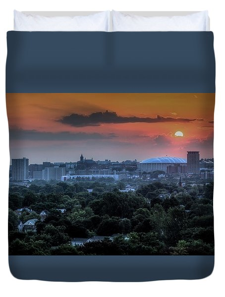 Syracuse Sunrise Duvet Cover