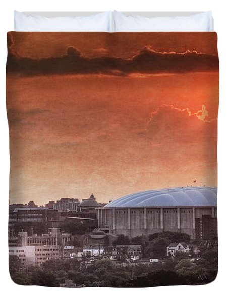 Syracuse Sunrise Over The Dome Duvet Cover