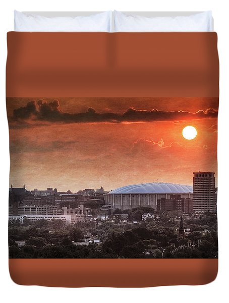 Syracuse Sunrise Over The Dome Duvet Cover by Everet Regal