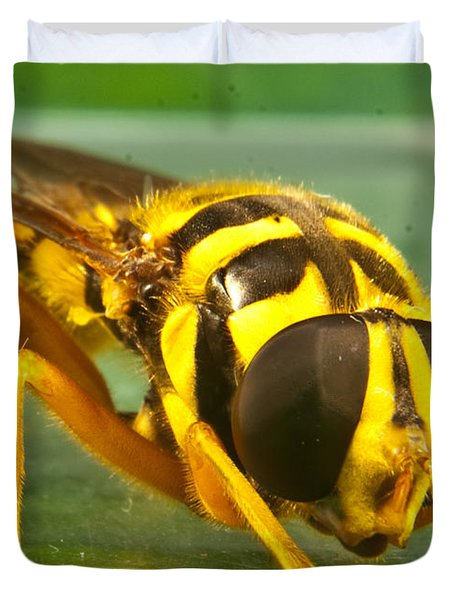 Syrphid Eye To Eye Duvet Cover