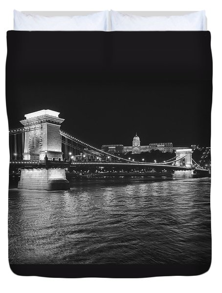 Szechenyi Chain Bridge Budapest Duvet Cover