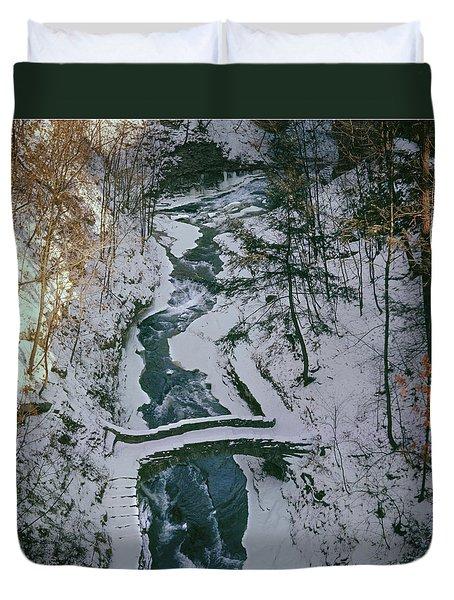 T-31501 Gorge On Cornell University Campus Duvet Cover